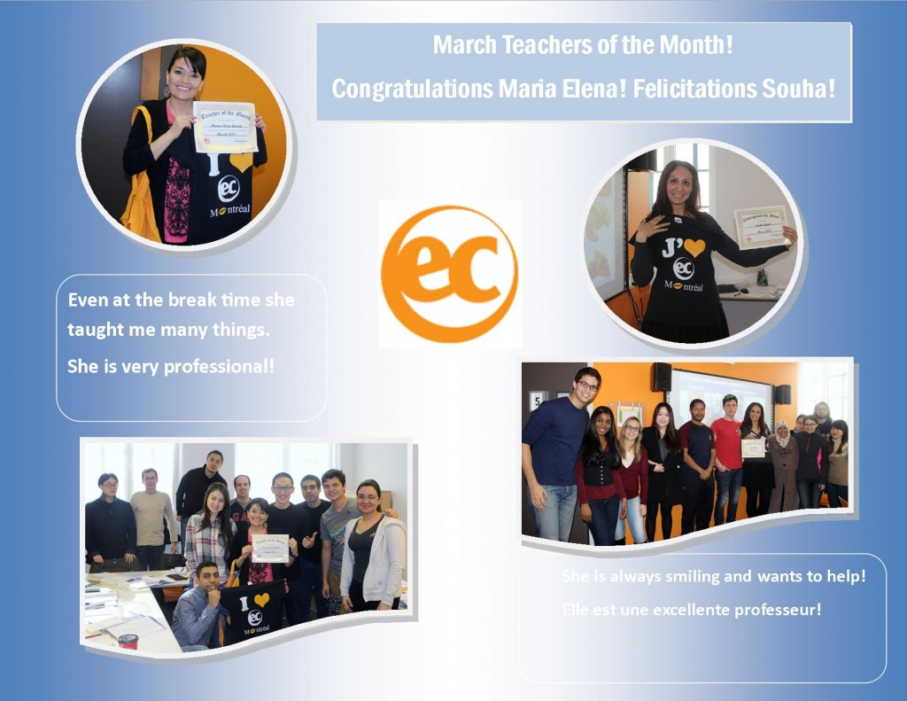 teacher of the month march 2015
