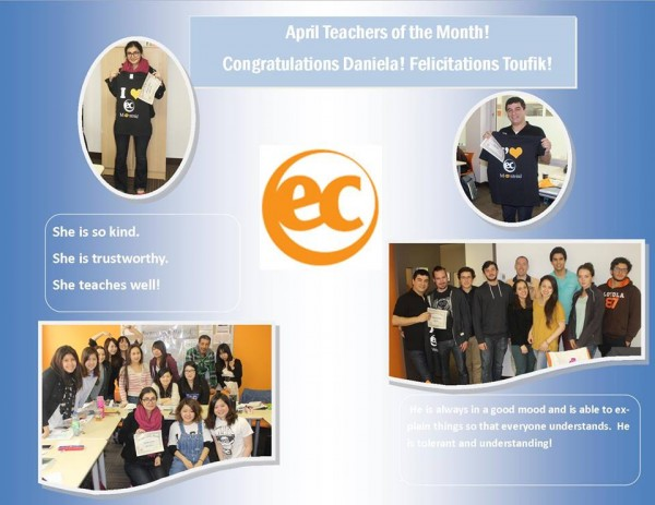 Students learning English and French in Montreal vote for April Teachers of the Month