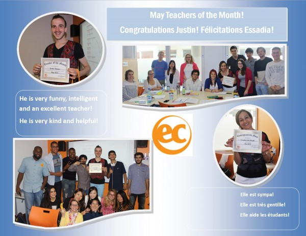teacher of the month May 2015