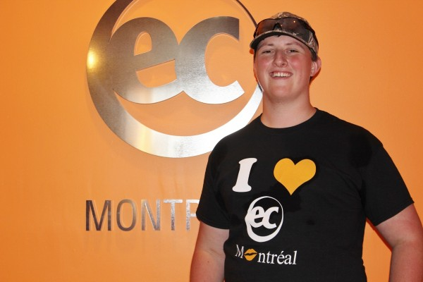 Andrew Facchini is learning French in Canada with EC Montreal