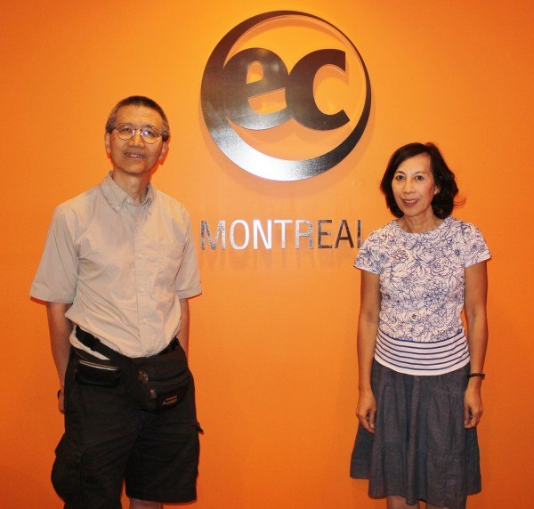 Chinese-American family learn English in Montreal with EC