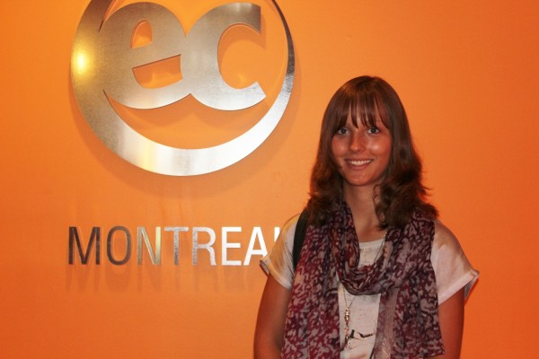 Jenny Steffens is sitting for an English Course at EC Montreal