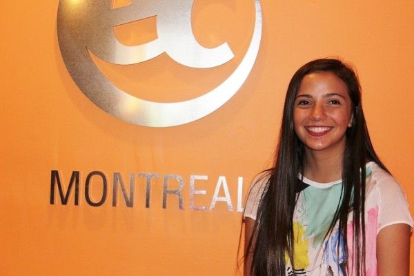 Patricia Corral is learning English in Canada with EC Montreal