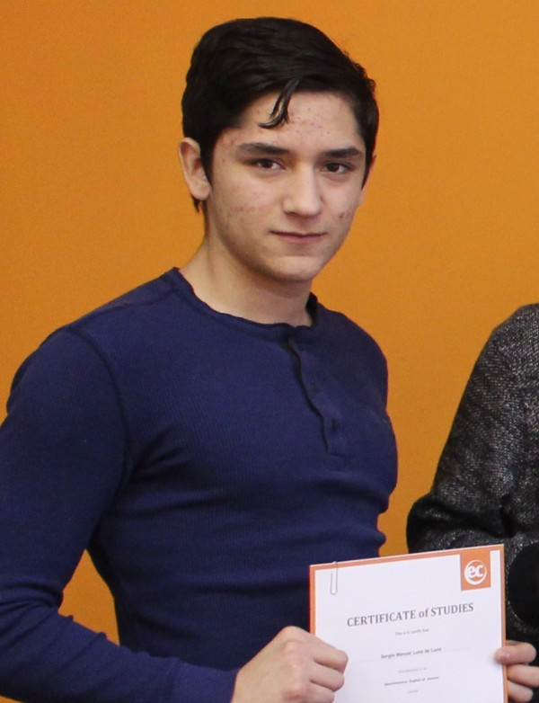 EC Montreal ESL Student Sergio Manuel Luna De Luna