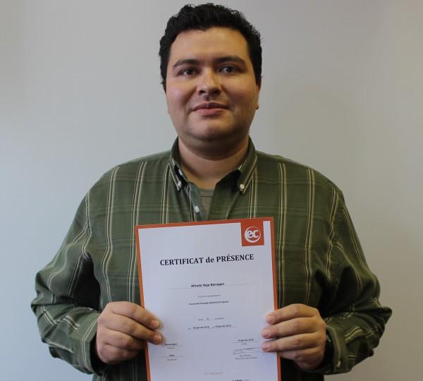 EC Montreal ESL Student Alfredo Naja Barragan