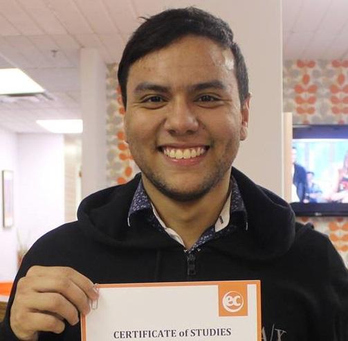 EC Montreal ESL Student Daniel Andres Bernier
