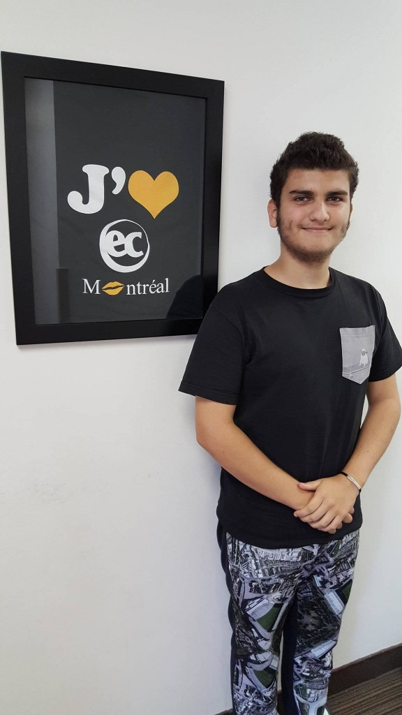 Andrea Caramaschi is a student from Italy who came to Learn English Abroad in Montreal at EC in the Junior Programme.