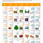Activity Calendar March 2017