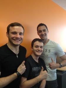 Romain, Dorian and Xavier