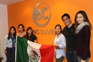 Mexico Flag and students