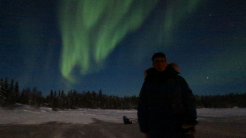 The Northern Lights in Yellowknife with Nilo