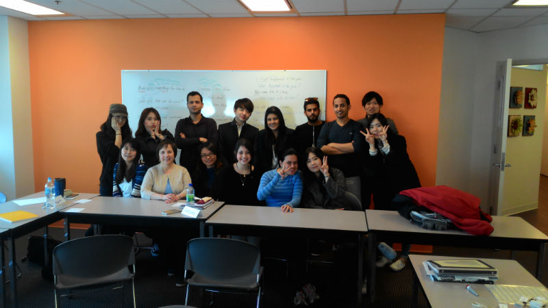 Lin from Taiwan with her classmates at EC Vancouver