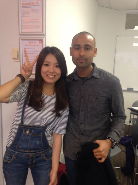 Wanchen (Daisy) Lee and her teacher - Study English in Canada with EC