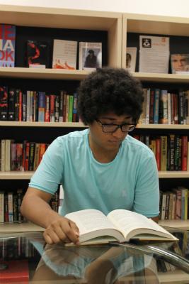 Abdullah studying at EC