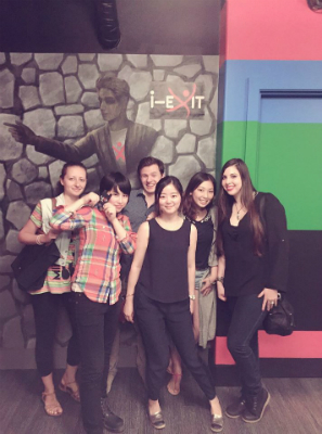 EC Vancouver English School interns at i-Exit