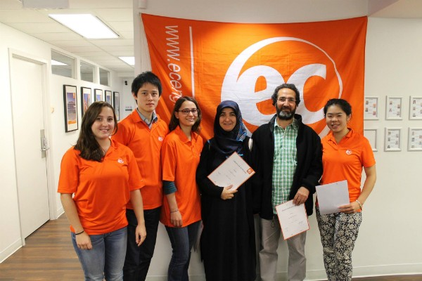 Fatma during her graduation ceremony at EC Vancouver English School