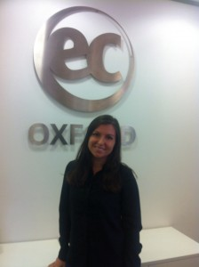 Olga is learning English in Oxford with EC
