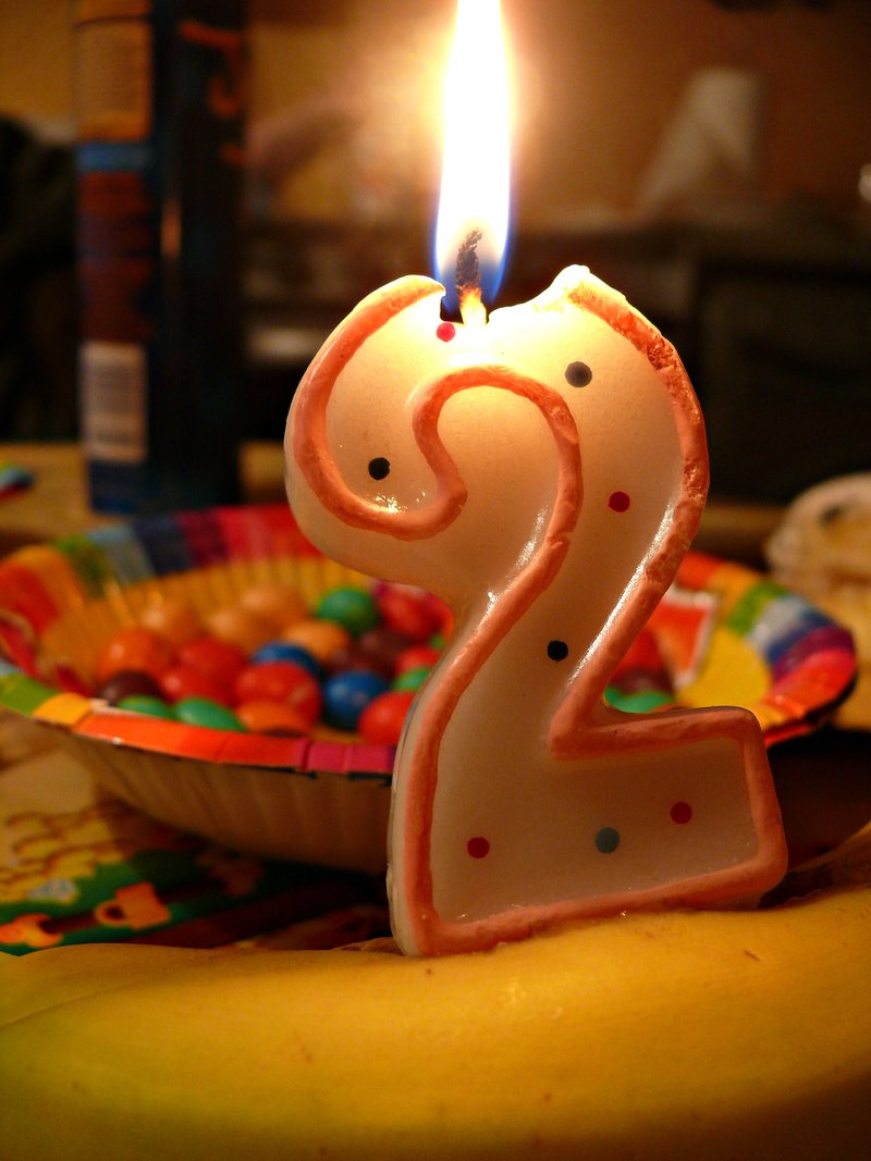 Number 2 Birthday Candle By Fotofrenzy9