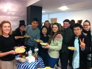 Students learn English and eat pancakes at EC London
