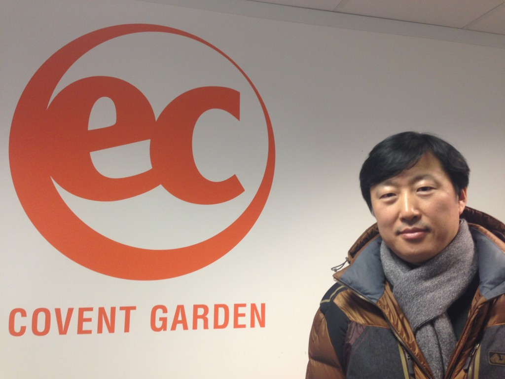 Geundong Bae studying at EC Covent Garden / English lessons for adults in the UK