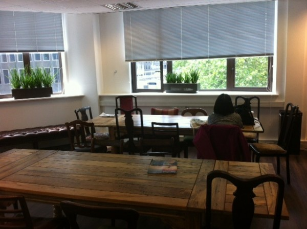 check out our beautiful new tables in our Lounge area. If you're thinking about studying English in London, EC LONDON 30+ could be the perfect place for you.