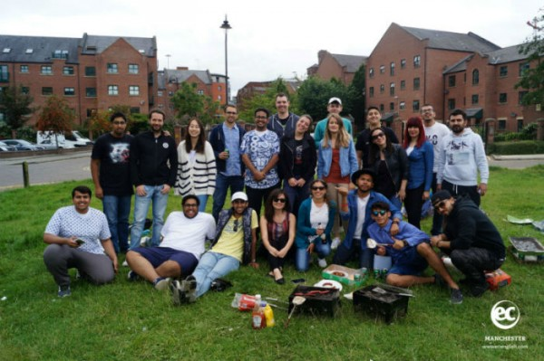Great BBQ for EC Manchester English School students