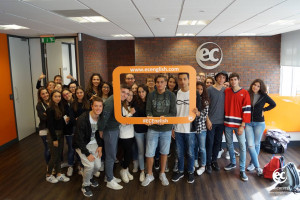 Italians students learning English at EC Manchester Language School