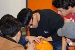 EC MAnchester language school pumpkin carving competition