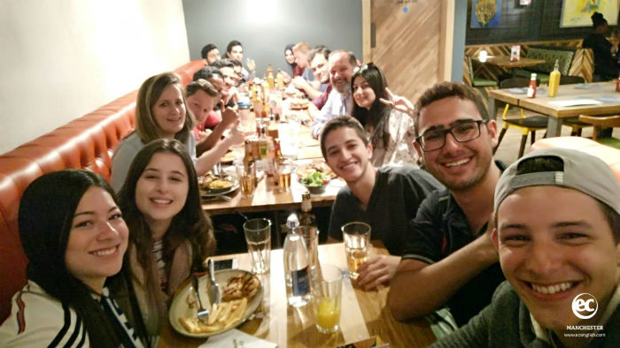 Student Dinner Night for EC Manchester Language School Students