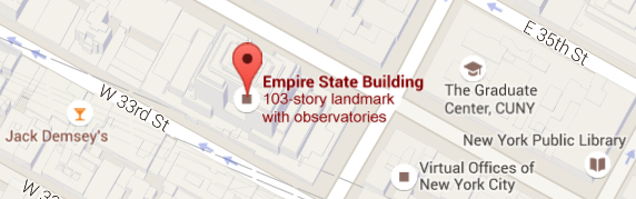 Empire State Building Google Maps