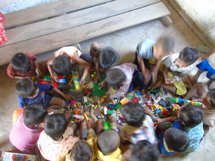 Local children in ban huoy
