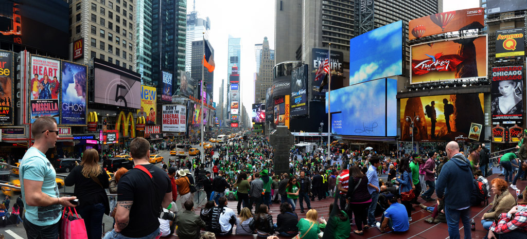 St Patricks day times square