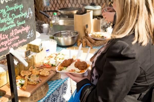 Food in a street market