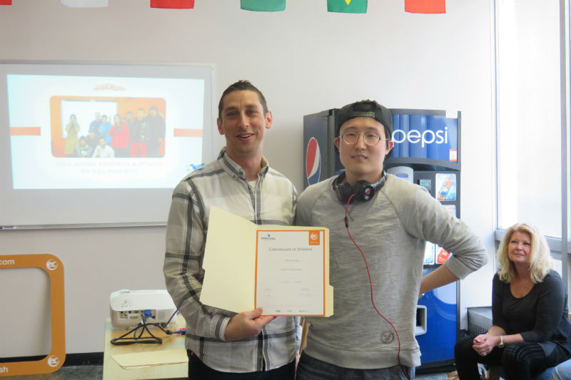 """Gyuwon from S. Korea took an """"English for Academic Purposes"""" (EAP) course at EC SUNY Fredonia"""