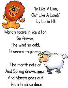 March Comes In Like And Goes Out Like >> Idiom Of The Week Ec Fredonia