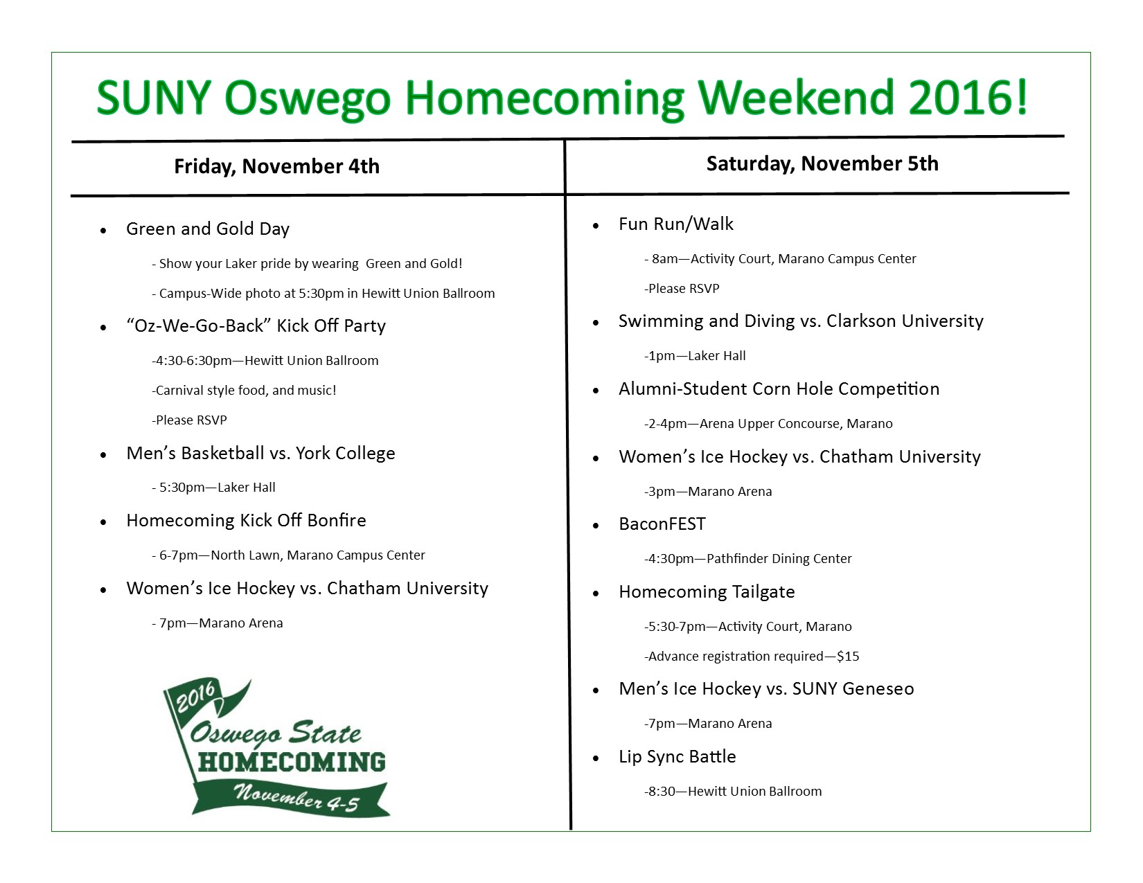 Homecoming Weekend