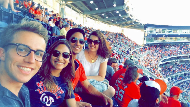 EC Washington students enjoy National's baseball game