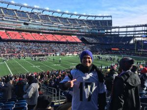 EC student at Patriots Game