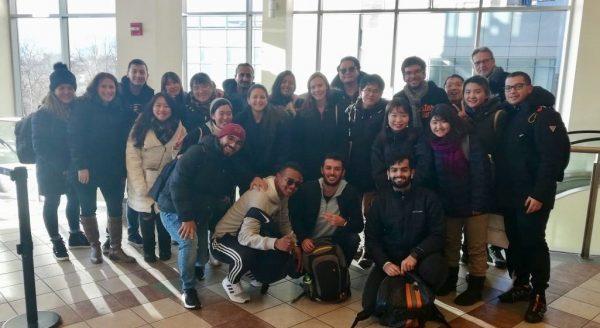 English Students taking a group photo at EC Boston