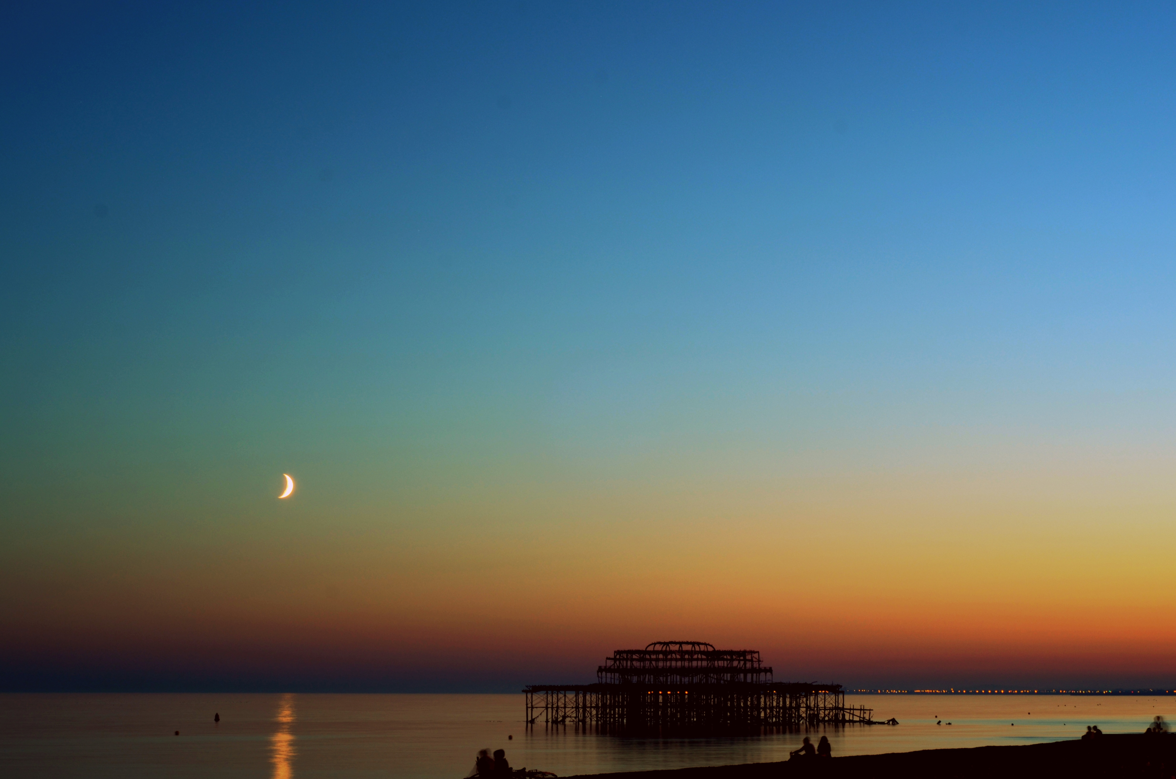 Just after sunset looking over the West Pier, Brighton