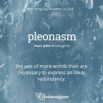 Pleonasm