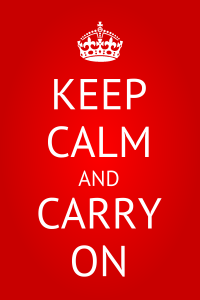 Keep Calm and Carry On EC Brighton