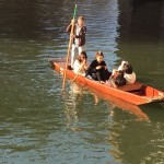EC English Students punting in Cambridge
