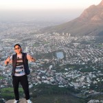 Moataz standing at the top of Lion's Head on the EC Cape Town hike