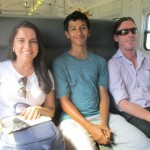 Matthew (on the far right) took EC Cape Town students on a train ride and then to the beach. Thanks Matt! :)