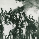 The youth of 1976 standing up against the guns and bullets of the Apartheid police.