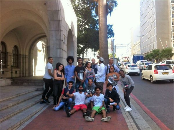 Solaimans friends and teacher Mark from EC Cape Town