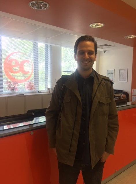 Cristobal is learning English in England with EC London