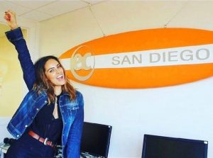 Sara Corrales while studying at EC San Diego