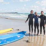 Students Studying English in San Diego go Surfing
